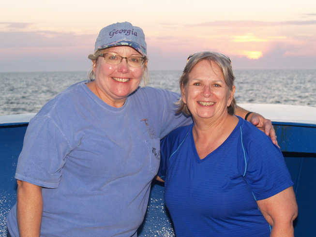 Vicki Albritton (l) and JoCasta Green