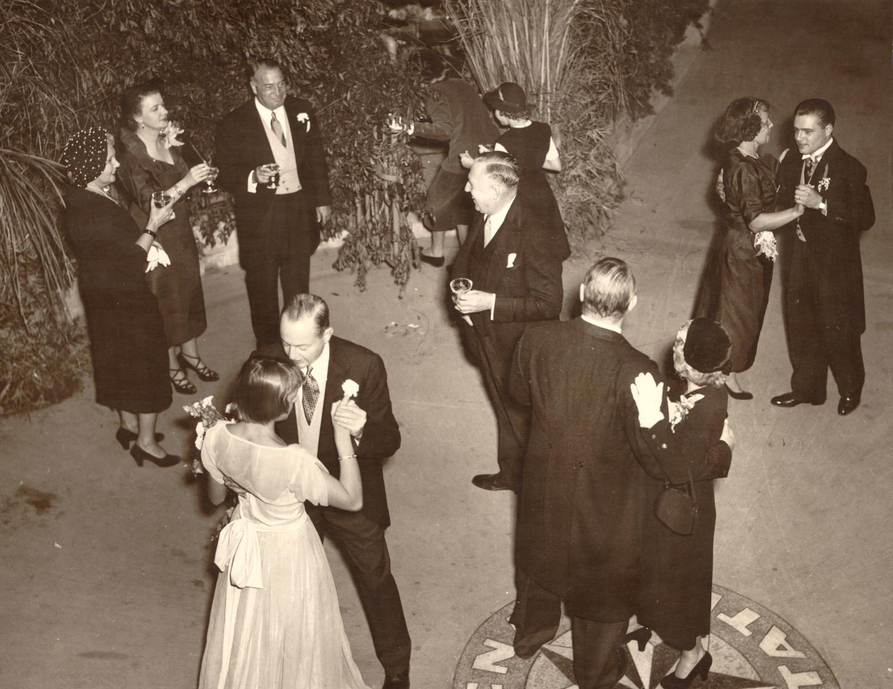 The Ellin Roebling-Donnell Watkins wedding in 1950.