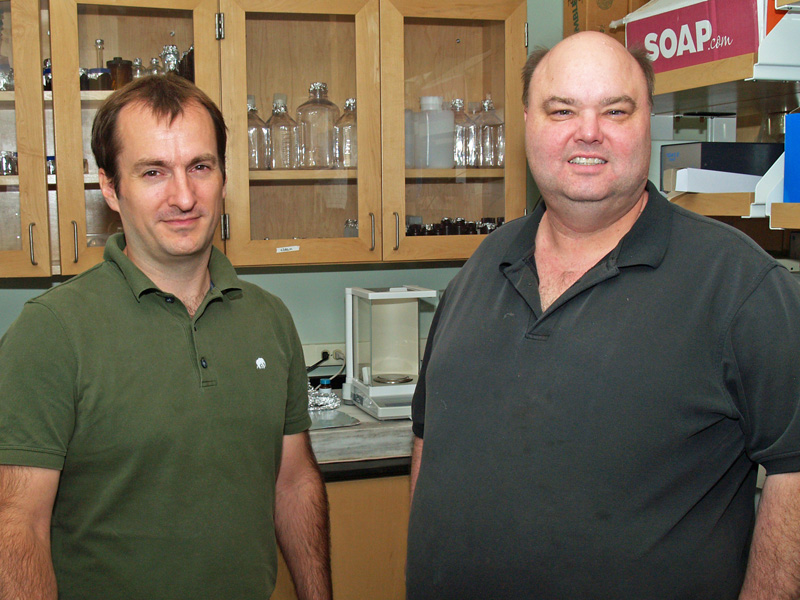Researchers Aron Stubbins (l) and Jay Brandes